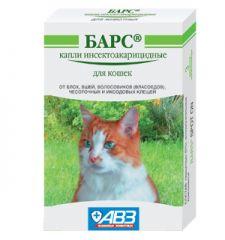 Барс капли на холку от блох и клещей для кошек