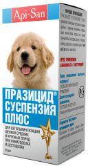 ПРАЗИЦИД Плюс - сладкая антигельминтная суспензия для щенков средних и крупных пород + шприц-дозатор