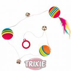 Мячики с бубенчиками на шнурке Trixie TX-4133
