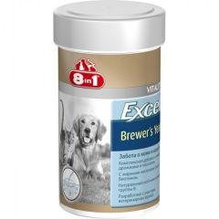 8in1 BREWERS YEAST WITH GARLIC - пивные дрожжи с чесноком для собак и кошек