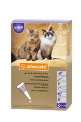 Advocate (Адвокат®) капли для кошек весом от 4 кг до 8 кг