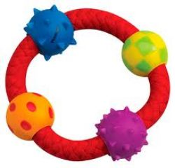 Petstages Multi Texture Chew Ring - канат-кольцо с мячиками, pt123