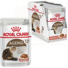 Royal Canin Ageing +12 влажный корм консервы для пожилых кошек старше 12 лет (пауч)