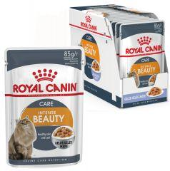 Royal Canin Intense Beauty в желе влажный корм консерва для кошек старше 1 года для поддержания красоты шерсти и здоровой кожи (пауч)