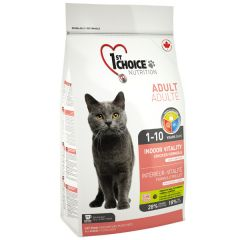 1st Choice курица Виталити - сухой корм для домашних взрослых кошек, живущих в помещении