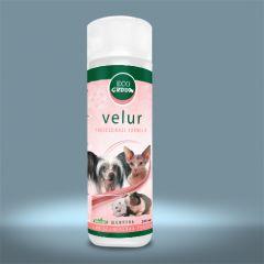 EcoGroom Velur (Экогрум Велюр) — Концентрированный органический шампунь для собак, котов и грызунов бесшерстных пород
