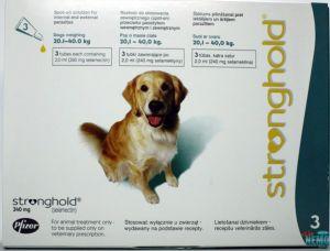 Стронгхолд (Stronghold) 12% крупные собаки (20,1-40,0 кг) пипетка 240 мг (2 мл)