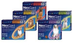 НексГард Спектра таблетки для собак от блох, клещей и внутренних паразитов