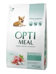 Optimeal Puppies All Breeds сухой корм с индейкой для щенков всех пород