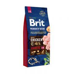 Brit Premium (Брит премиум) Senior L + XL сухой корм для стареющих собак крупных пород