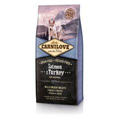 Carnilove Puppy Salmon & Turkey сухой беззерновой корм с лососем и индейкой для щенков