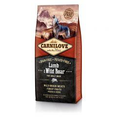 Carnilove Adult Lamb & WildBoar сухой беззерновой корм с ягненком и диким кабаном для взрослых собак всех пород