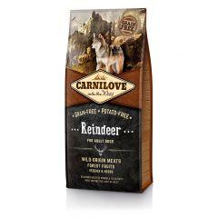 Carnilove Adult Raindeer сухой беззерновой корм с мясом северного оленя для взрослых собак всех пород
