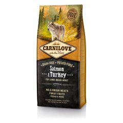 Carnilove Adult Large Salmon & Turkey сухой беззерновой корм с лососем и индейкой для взрослых собак крупных пород