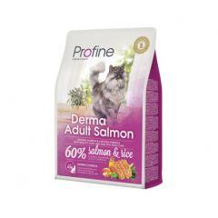 Profine Cat Derma сухой корм с натуральным лососем и рисом для длинношерстых и полудлинношерстых взрослых котов и кошек