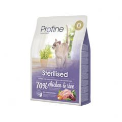 Profine Cat Sterilised сухой корм из натурального куриного мяса и риса для стерилизованных и кастрированных кошек и котов