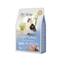 Profine Cat Light сухой корм из натурального мяса индейки и риса для пожилых котов и кошек или с избыточным весом