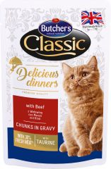 Butcher's Cat Delicious Бутчерс влажный корм консервы для кошек Говядина (65082)