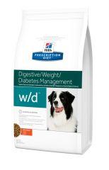 Hills (Хилс) Prescription Diet Canine w/d Лечебный сухой корм для собак предотвращает ожирение, колиты, запоры, сахарный диабет