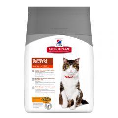 Hills Science Plan Feline Adult Hairball Control Chicken Сухой шерстевыводящий корм с курицей для кошек