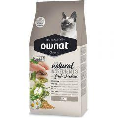 Ownat Classic Light (Cat) сухой корм для взрослых кошек, склонных к набору веса