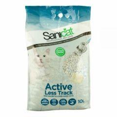 Sanicat Active Less Track Комкующийся наполнитель для длинношерстных кошек с ароматом марсельского мыла