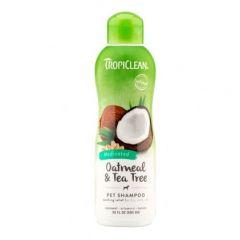 TropiClean Medicated Oatmeal & Tea Tree Shampoo Лечебный шампунь для сухой, шелушащейся кожи собак и кошек
