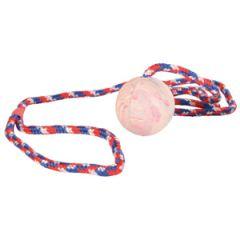 Мяч-радуга литой, на веревке 1м TX-3304