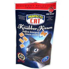 Perfecto Cat лакомство для кошек подушечки со вкусом говядины