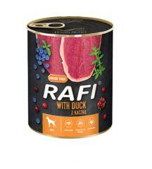 Dolina Noteci Rafi with Duck Беззерновые консервы для собак с уткой голубикой и клюквой