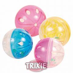 Мяч пластиковый с колокольчиком, 4,5см Trixie TX-4166