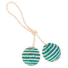 2 мяча веревочных с мятой Trixie TX-4077