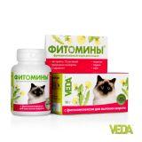 Фитомины с фитокомплексом для выгонки шерсти для кошек