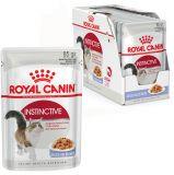 Royal Canin INSTINCTIVE in jelly - консервированный корм для привередливый кошек (нежные кусочки в желе)