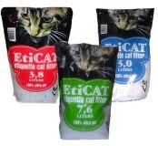 Силикагелевый наполнитель для кошачьего туалета Eticat