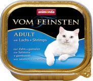 Вом Фейнштен корм консерва для кошек и котов лосось и креветка 100гр, Анимонда