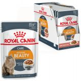Royal Canin Intense Beauty в соусе влажный корм консерва для кошек старше 1 года для поддержания красоты шерсти и здоровой кожи (пауч)