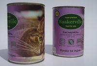 Baskerville (Баскервиль) Утка и индейка консерва для котов
