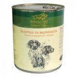 Консервированный корм для собак Hubertus Gold Индейка с лапшой. 800г