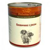 Консервированный корм для собак Hubertus Gold Говядина и рис 800г