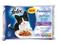 Felix Fantastic JUNIOR (Феликс Фантастик юниор) корм консервы для котят кусочки с курицей в желе пауч