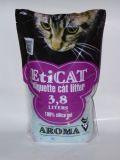 Силикагелевый наполнитель для кошачьего туалета Eticat Aroma (Ароматизированный) 3,8л