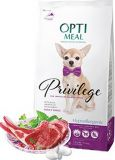 Optimeal Privilege Hypoallergenic Small Breeds Adult Dog гиппоаллергенный сухой корм с ягненком для взрослых собак мини и малых пород