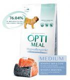 Optimeal Hypoallergenic Medium Adult Dog Сухой гиппоаллергенный корм с лососем для взрослых собак средних пород