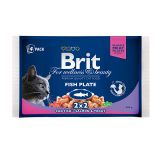 Brit Premium Ассорти Рыбная тарелка из влажного корма Brit Premium Треска и Brit Premium Лосось