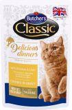 Butcher's Cat Delicious Бутчерс влажный корм консервы для кошек Курица и печень (65083)