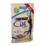 Cat Chow Adult влажный корм консервы для взрослых кошек с лососем и зеленой фасолью в желе пауч
