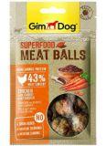 GimDog Superfood Meat Balls Лакомство для собак с курицей, морковью и семенами льна