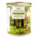 Hubertus (Хубертус) Gold Forest Edition Пернатые птицы с топинамбуром, шиповником и зеленью консервы для собак 800г