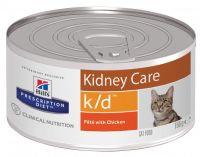 Hill's (Хиллс) Wet PD Feline k/d Kidney Care - лечебные консервы-диета с курицей для кошек при почечной недостаточности